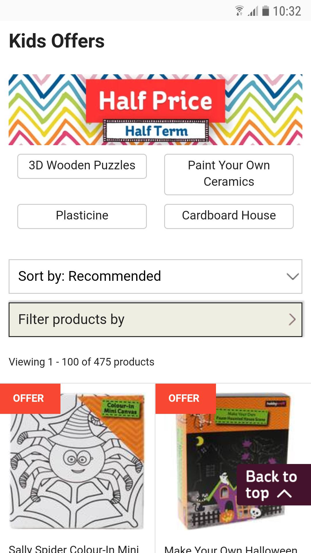 Hobby Craft Half Price Half Term