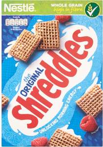 Shreddies Original Cereal (415g) was £2.06 now £1.00 @ Morrisons