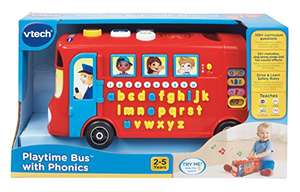 VTech Baby Playtime Bus with Phonics - Red - £9 (Prime) £13.75 (Non Prime) @ Amazon