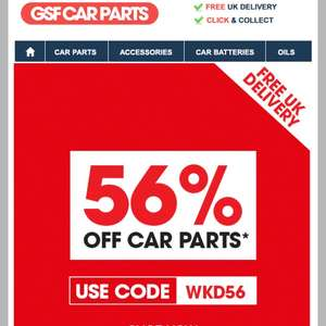 56% OFF all Car Parts at GSF