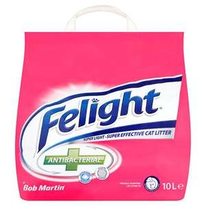 Bob Martin Felight Antibacterial Cat Litter, 10L £3.50 @ Amazon - Add on item