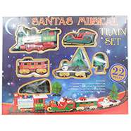 22 Piece Santa's Musical Train Set £8 C+C with code @ The Works (Wooden 25 Drawer Cabinet - ideal for Advent Drawers £12 with code)