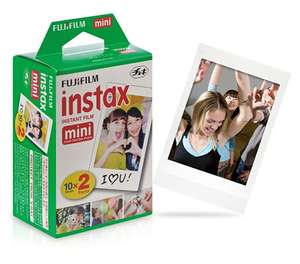 Fujifilm Instax Mini Twin Pack. £9.99 prime / £13.98 non prime @ Amazon