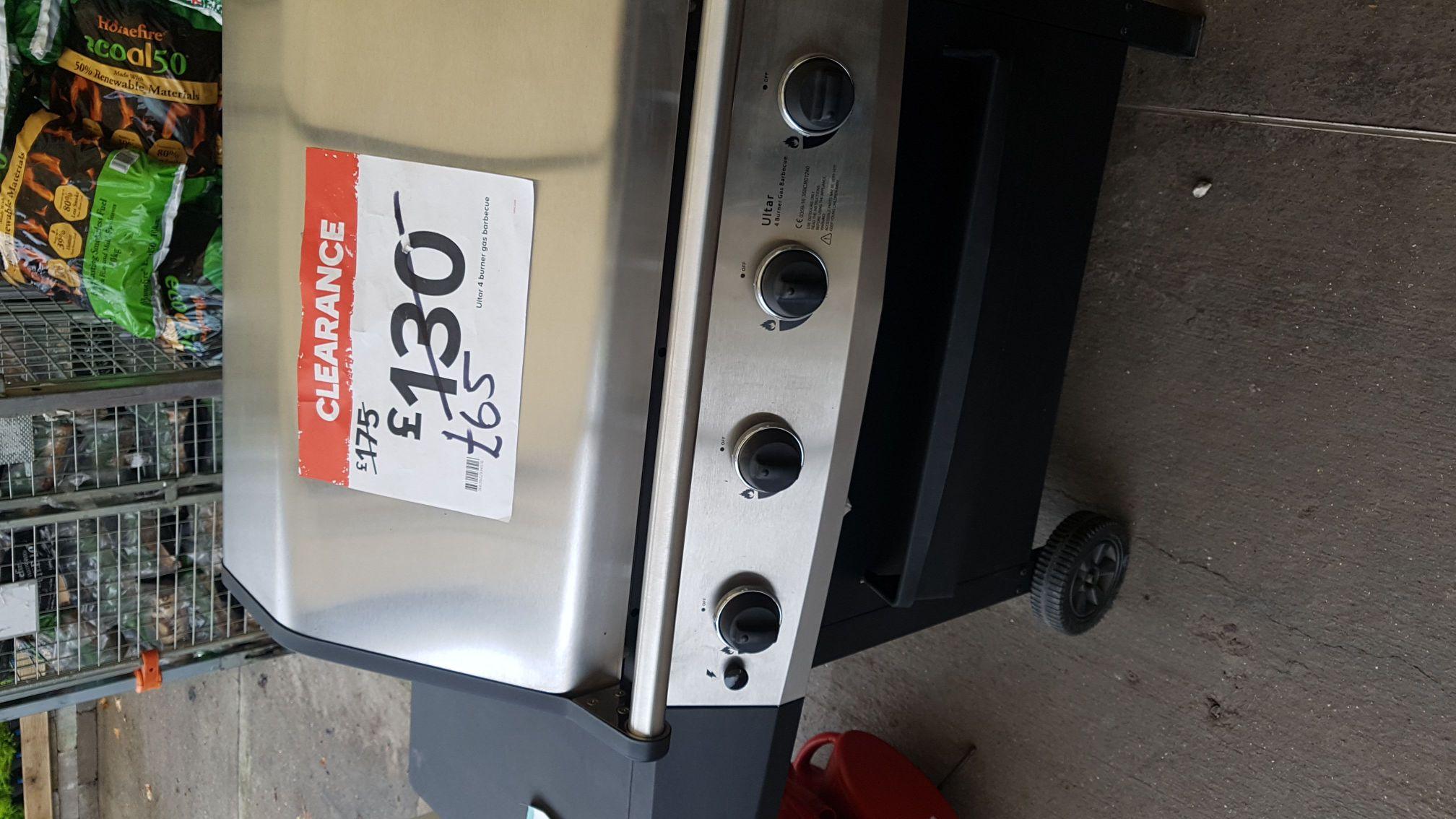 Ultar 4 burner gas bbq - £65 instore @ B&Q