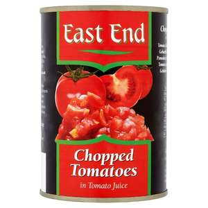 East End chopped Tomatoes- 4 for a £1 -Tesco