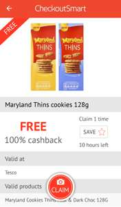 Free Maryland Thins biscuits from Tesco today only via Checkoutsmart