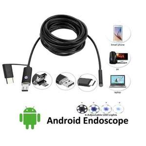 DANIU 3-in-1 5.5mm 6LED Waterproof Endoscope Android USB Type C Borescope Inspection Camera 3.5m Length £3.81 Delivered with code @ banggood