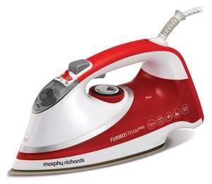 Morphy Richards 303124 Turbosteam Pro Pearl Ceramic Steam Iron Red £16.50 Prime (£21.25 non Prime) @ Amazon