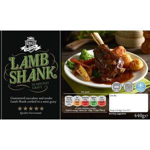 Kings of Low & Slow Lamb Shank with Minted Gravy (440g) was £5.50 now £2.75 @ Ocado