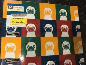 Lever Arch file with Pug Design 45p in Morrisons