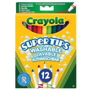 Crayola Supertips 12 pack washable markers 75p in Morrisons
