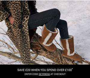 £20 off when you spend £100 at Ugg
