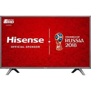"Hisense H43N5700 43"" Smart 4K Ultra HD with HDR TV - Grey (£359.00) @ AO"