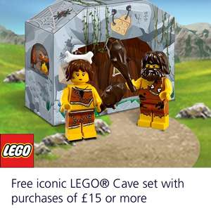 O2 Priority- Free iconic Lego cave set with purchase of £15 or more