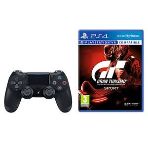 Gran Turismo Sport, PS4 and Sony PS4 DUALSHOCK 4 Wireless Controller, Black - £72.03 Delivered @ John Lewis