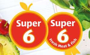 Aldi Super 6 - fresh fruit and veg 65p each - from 26/10 to 08/11