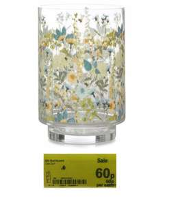 George Home Floral Patterned Hurricane Vase reduced to clear was £6 now 60p in stores and online selling for £1.50 @ Asda