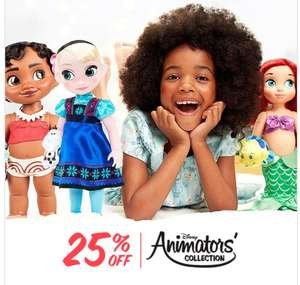 Disney Store Animator dolls 25% off now £17.24 + £3.95 Del for orders under £50
