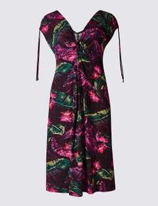 Floral Print Sleeveless Beach Dress (Sizes 12-20) Was £18. Now 1.49 @M&S