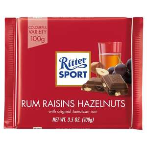 Ritter Sport Extra Fine 73% Dark Chocolate (100g)was £1.05 now Buy any and add any second box for Half Price​ (So 74p a pack) @ Ocado