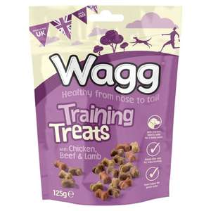 Wagg Training Treats with Chicken, Beef & Lamb (125g) was £1.00 now 66p @ Ocado