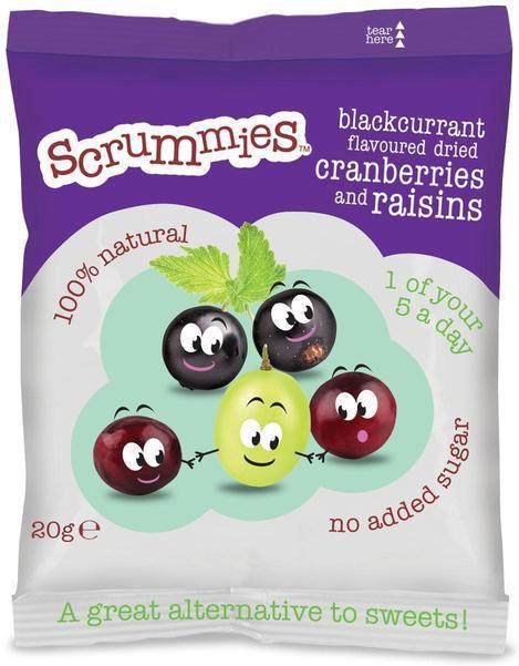 Scrummies Cherry Flavour Cranberries & Raisins (20g) was 50p now 25p @ Ocado