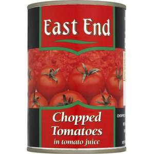 East End Chopped Tomato Tins 4 for £1.00 @ B&M