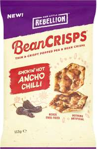 Rebellion Bean Crisps Sea Salt (113g) was £1.80 now 90p @ Ocado