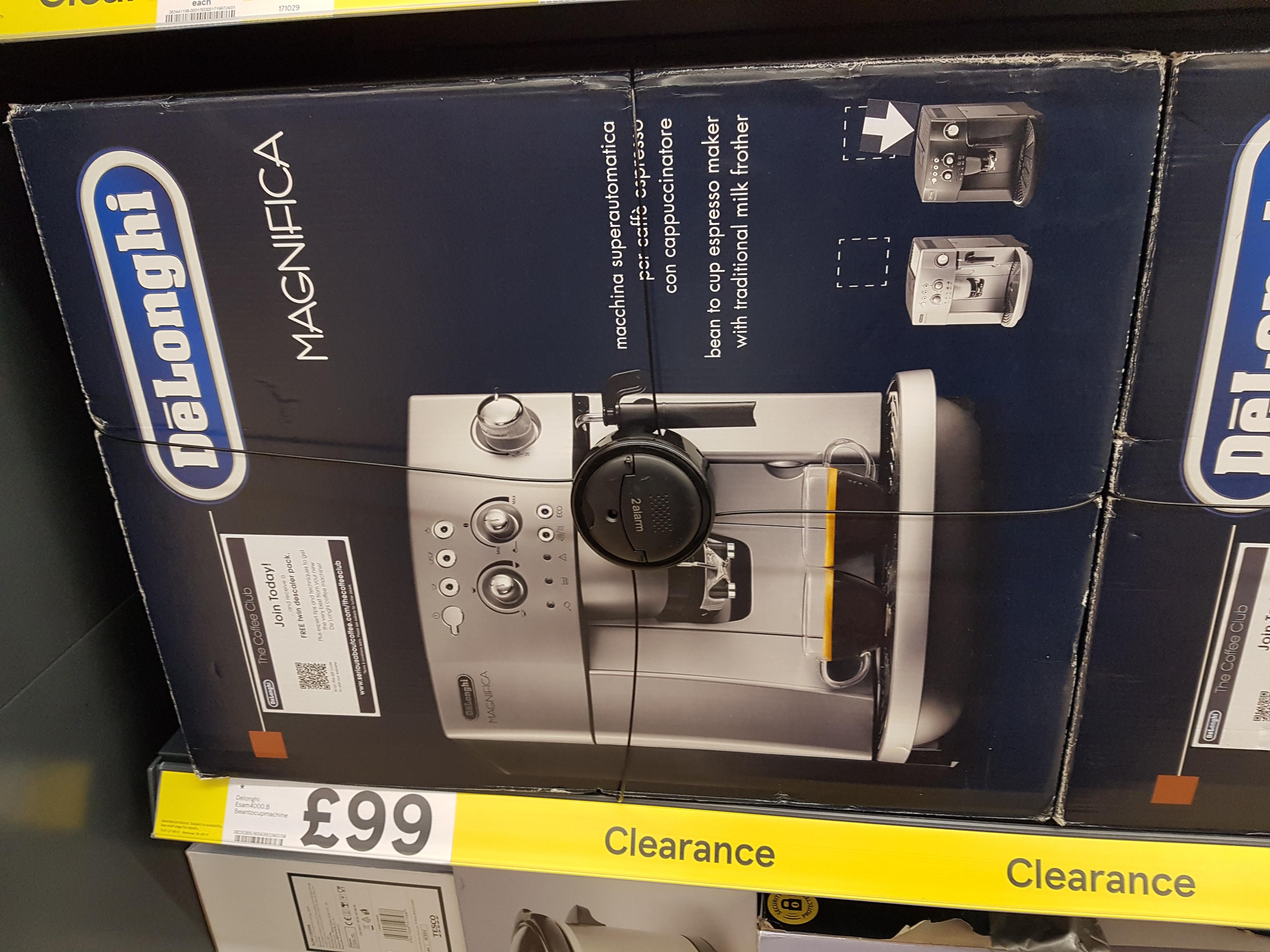 De'Longhi Magnifica ESAM 4000.B Automatic Espresso Machine £99.00 Clearance instore @ Tesco (Leicester)