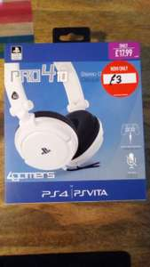 PS4 Pro410 headset instore £3 instore @ GAME (Bristol)