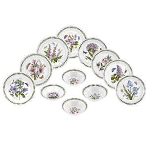 Portmeirion Botanic Garden 12 Piece Set- Made in England - £99.98
