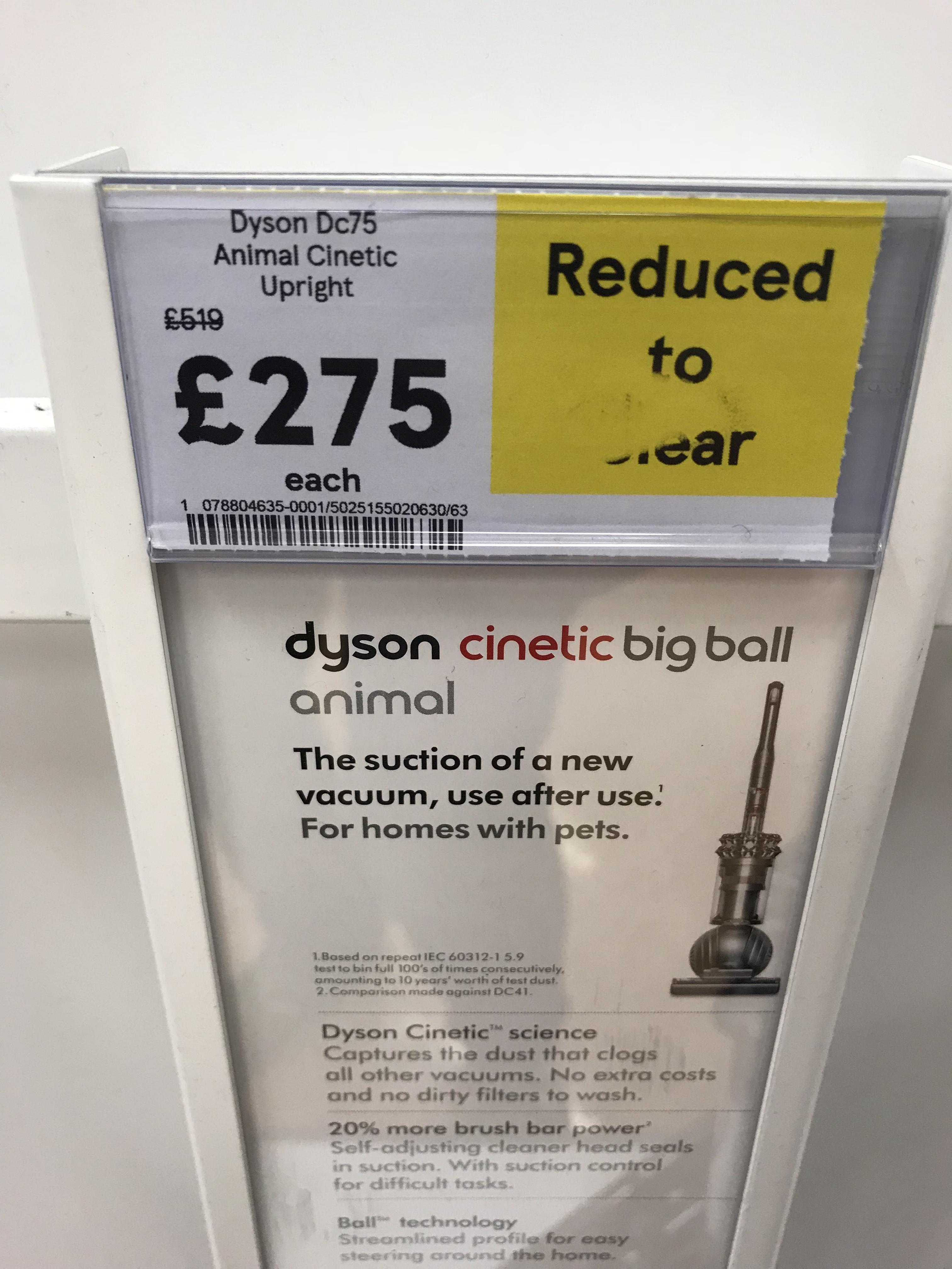 Dyson DC 75 Big ball Cinetic vacuum Cleaner - £275 instore @ Tesco