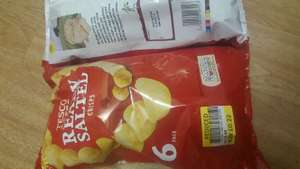 Tesco Ready salted crisps (6x 25g) 22p reduced to clear at Manchester Piccadilly Gardens