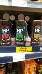 HP Spicy/Honey/Classic BBQ Sauce (470g)  with free 25g steak seasoning rub £1 in Poundland