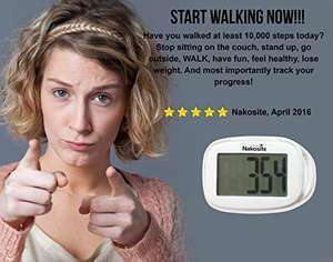 NAKOSITE Best Walking 3D Simple Pedometer £8.99 Prime Sold by Nakosite and Fulfilled by Amazon