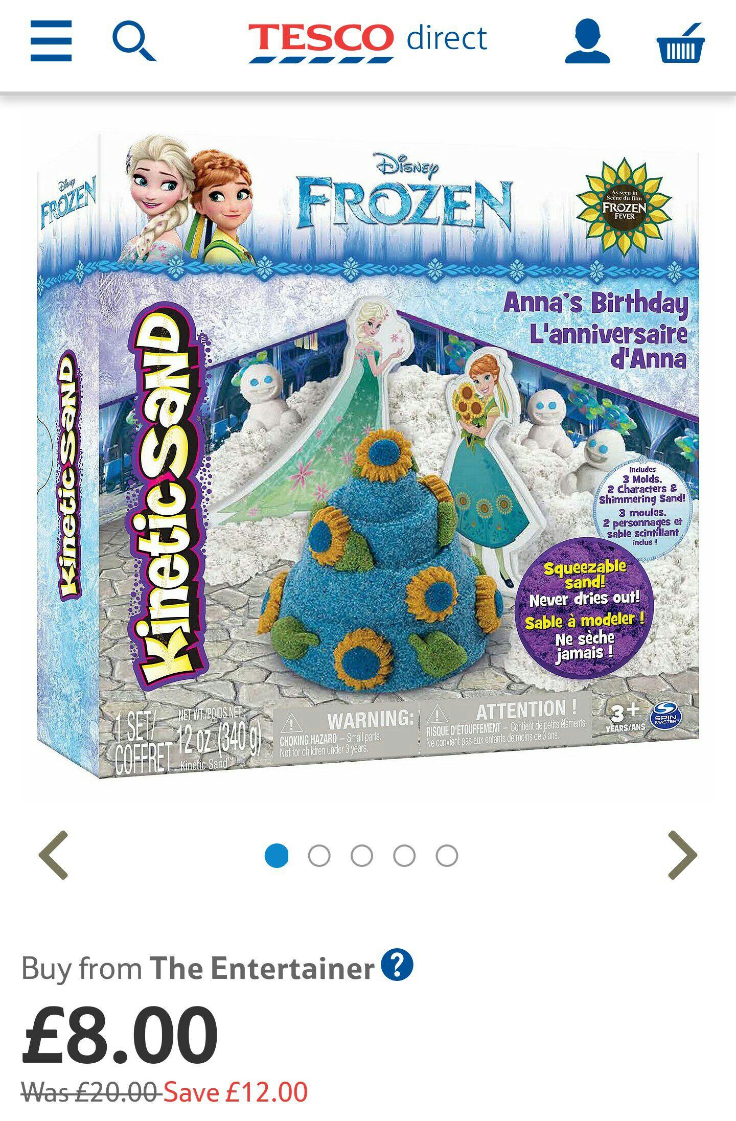 Kinetic Sand Frozen Set for £8 @ Tesco