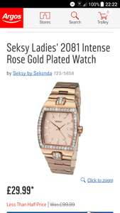 Seksy Ladies' 2081 Intense Rose Gold Plated Watch £29.99 @ Argos