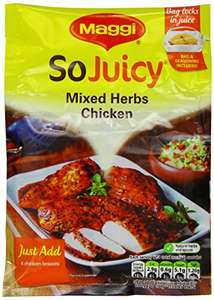 Maggi So Juicy Mixed Herbs for Chicken 30 g (Pack of 16) £2.49 (Add-on Item) @ Amazon
