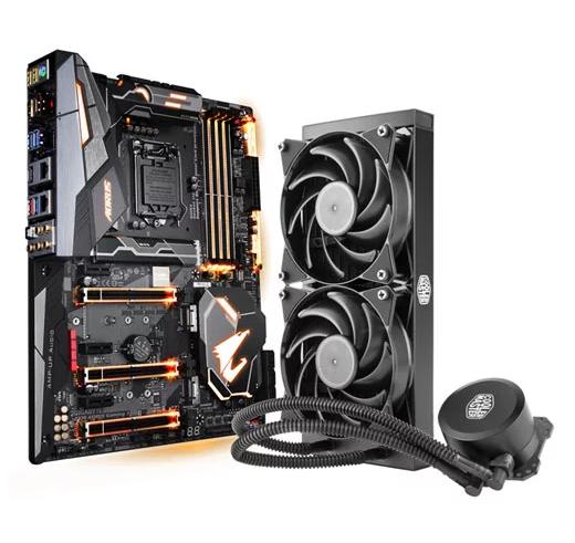 Gigabyte Aorus Z370 Gaming 7 Motherboard + CM MasterLiquid Lite 240 AIO Cooler + £40 STEAM Voucher! £254.99