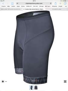 Funkier men's active padded cycling short black all sizes XS-XXXXL £7.99 @ CRC chain reaction (free P&P £9 spend) bottle £1.49