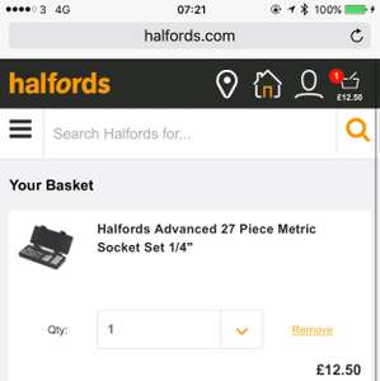 """Halford Advance 1/4"""" Socket Set - 27 Piece £12.50 instore @ Halfords"""