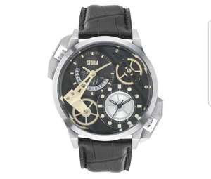 STORM London - Dualon Black Leather Strap Watch. 10% Off First Orders Using Code - £88.20 @ Debenhams