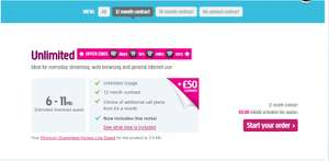 Plus.net ADSL Broadband £12.3 OR £14.82 per month.