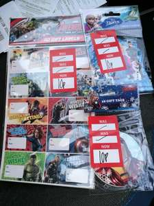 Disney Frozen / Marvel Avengers Christmas Gift Tags - 10p In-Store @ Dunelm