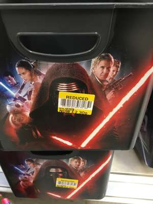 Star wars storage box reduced to £2.30 instore at Tesco Manchester