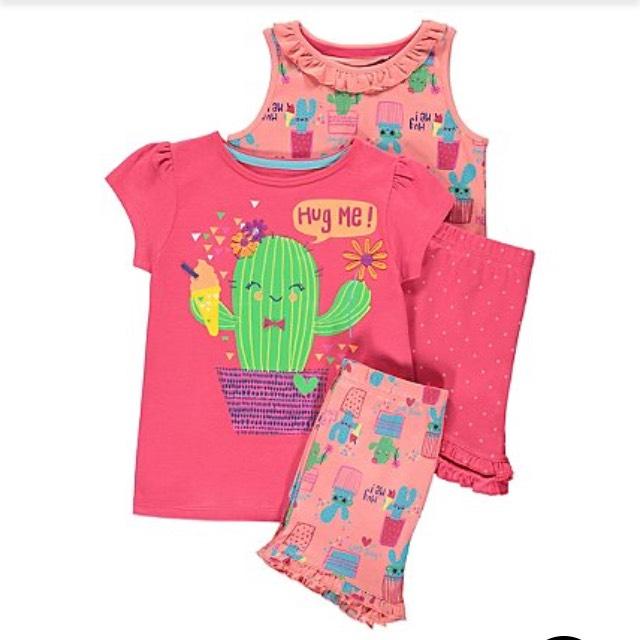 George Asda girls pyjama set reduced to £4