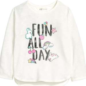 H&M girls jumper £4.49 free delivery in sale with code