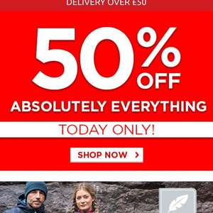 50% off Everything @ Mountain Warehouse!