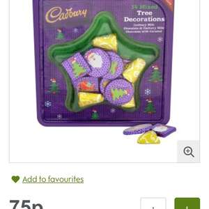 Cadbury chocolate tree decorations 75p @ Waitrose