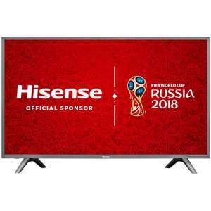 "Hisense H60NEC5600 60"" Freeview HD and Freeview Play Smart 4K Ultra HD with HDR TV - Dark Grey £674.10 with code (£624.10 after cashback claim) @ AO"